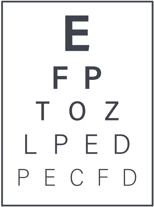 Snellen Eye Test Alphabet Chart