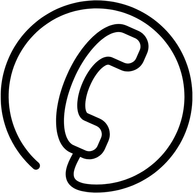 Corded Phone in Circle Logo