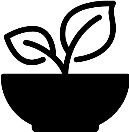 Leaves in pot logo