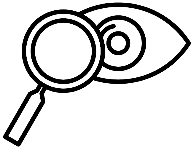 Magnifying Glass and eye logo